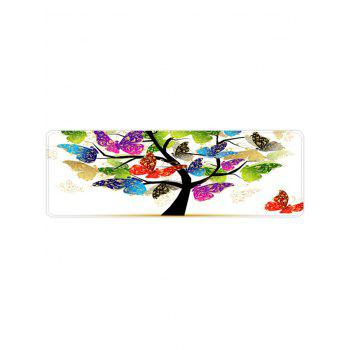 Butterfly Tree Pattern Anti-skid Area Rug - WHITE W16 X L47 INCH