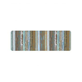 Old Wood Grain Pattern Anti-skid Area Rug - multicolor W24 X L71 INCH