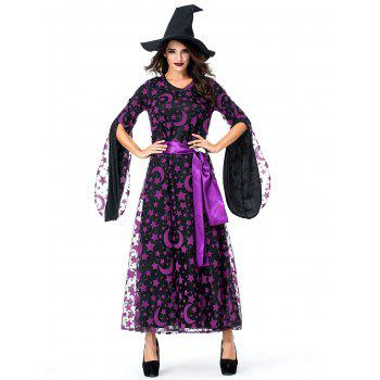 Robe d'Halloween Maman et Enfant Etoile Lune - multicolor MOM L