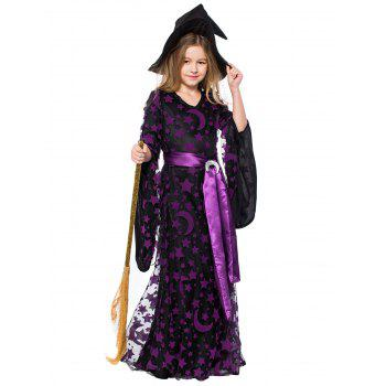 Halloween Moon Star Mother Child Dress - multicolor MOM M