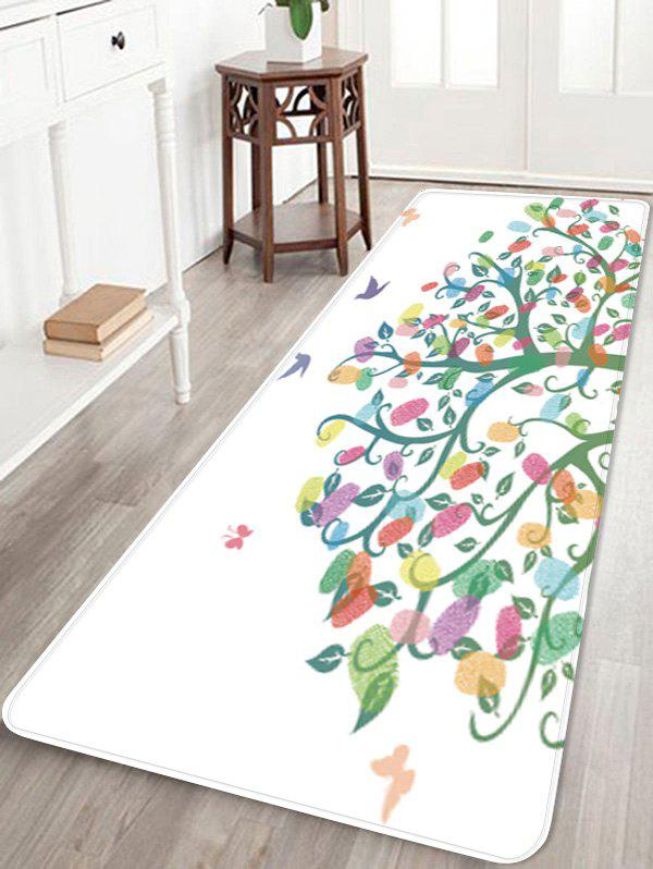 Colorful Tree Pattern Anti-skid Area Rug - WHITE W24 X L71 INCH