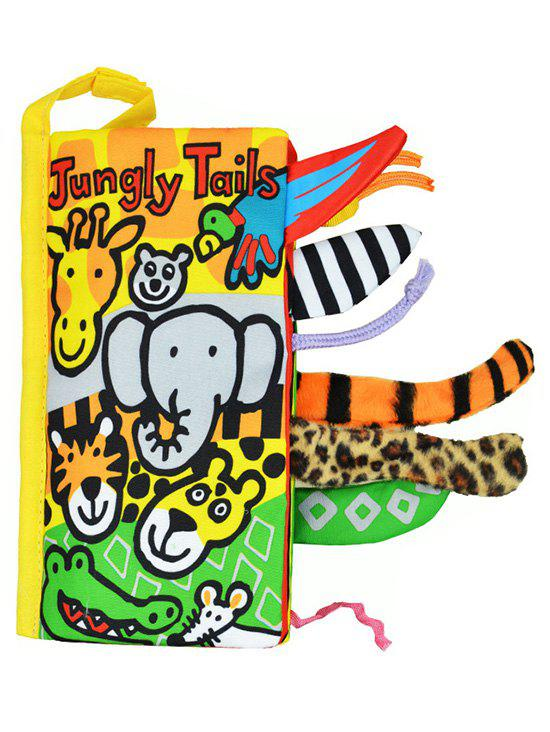 Jungly Animals Tail Education Livre en anglais - multicolor A