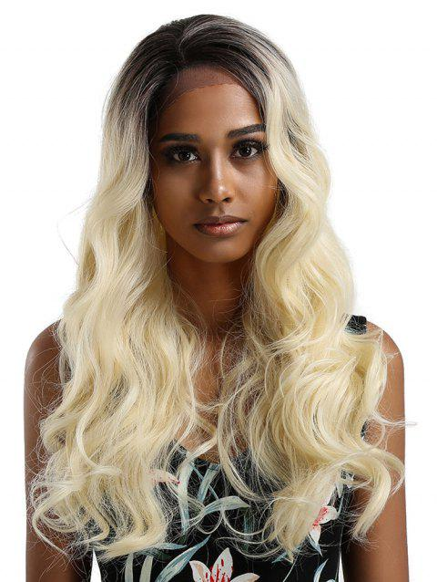 Lace Front Synthetic Colormix Long Wavy Wig - multicolor