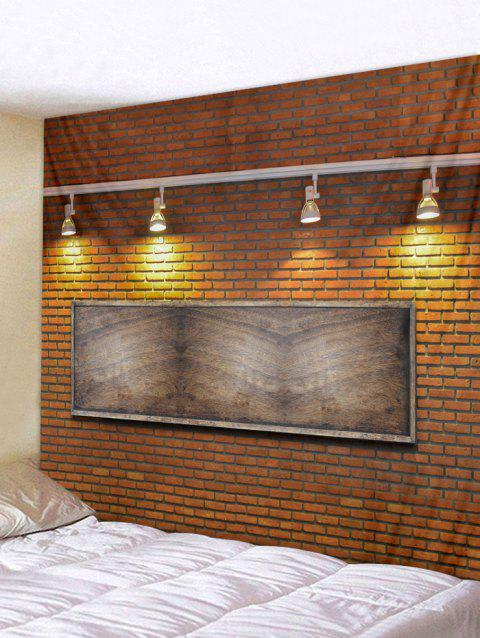 Brick Wall Lamp Print Tapestry Art Decoration - multicolor W79 X L59 INCH