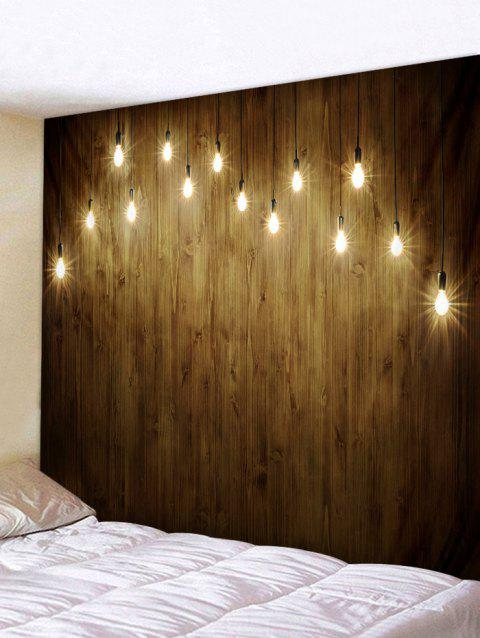 Light Wooden Wall Printed Tapestry Art Decor - multicolor W91 X L71 INCH