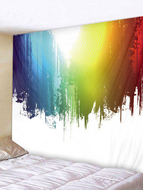 Paint Splatter Printed Wall Tapestry Art Decor - multicolor W59 X L59 INCH