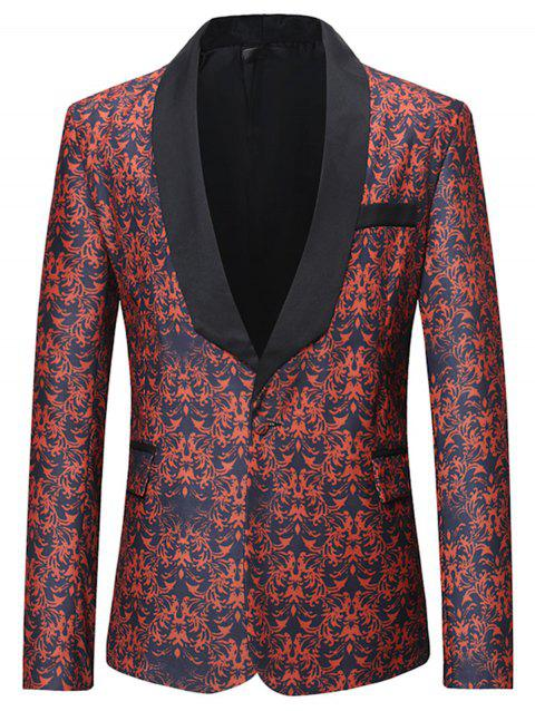 All-over Printed Pattern Flap Pocket Blazer - multicolor M