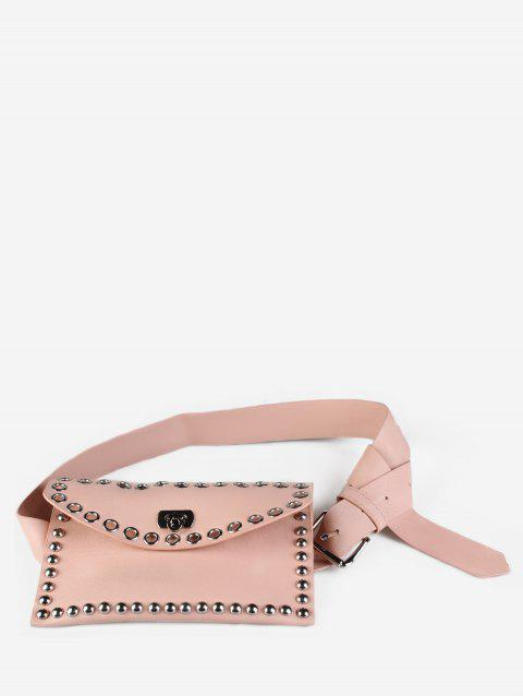 Round Hole Multi Function Waist Bag - PINK ROSE