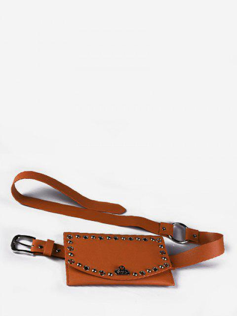 Round Hole Multi Function Waist Bag - BROWN
