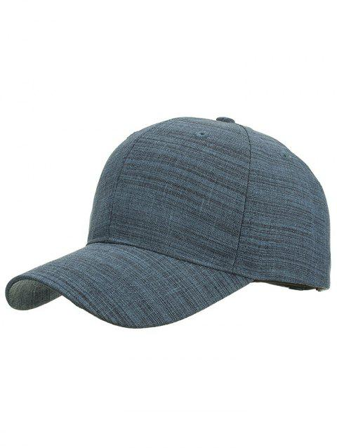 Striped Pattern Graphic Hat - MARBLE BLUE