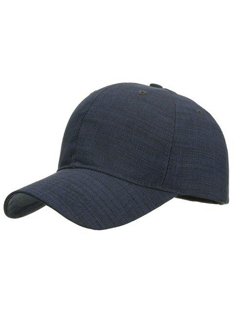 Striped Pattern Graphic Hat - CADETBLUE