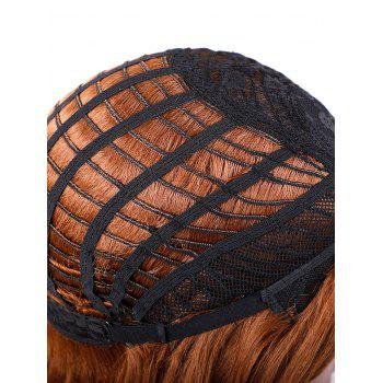 Long Side Bang Feathered Flip Wavy Synthetic Lace Front Wig - multicolor B