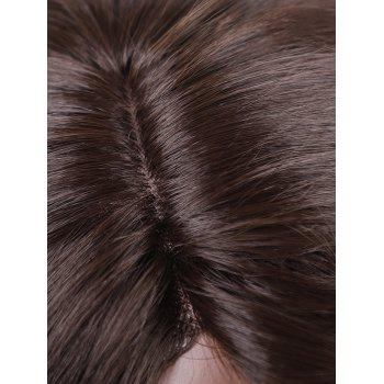 Long Side Parting Ombre Wavy Synthetic Lace Front Party Wig - multicolor D