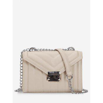 "<P>V Pattern Metal Hasp Crossbody Bag</P><I Class=""Icon Down Js Tap Up Down""></I> by Dress Lily"