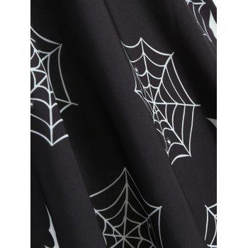 Halloween Print Off The Shoulder Dress - BLACK 2XL