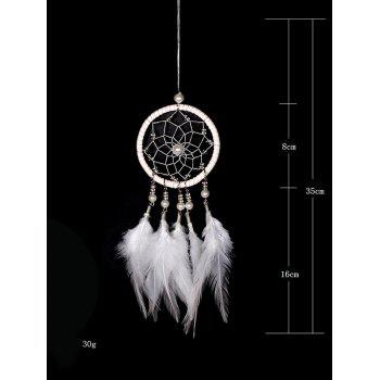 Handmade Feathers Dream Catcher Wall Hanging Decoration - WHITE