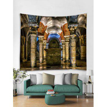Vintage Palace Print Tapestry Wall Art Decor - multicolor W79 X L71 INCH