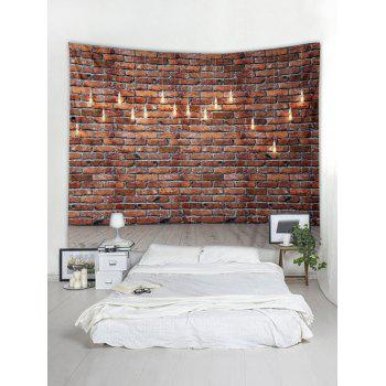 Brick Wall Pattern Wall Tapestry Art Decoration - multicolor W91 X L71 INCH