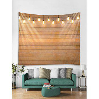 Lamp Wooden Wall Print Tapestry Art Decoration - multicolor W79 X L59 INCH