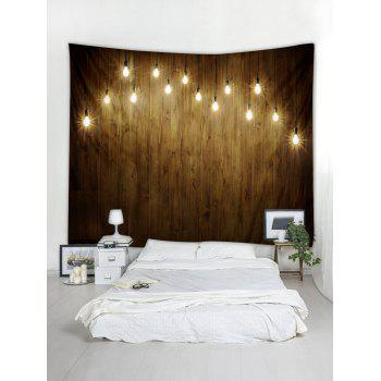 Light Wooden Wall Printed Tapestry Art Decor - multicolor W59 X L59 INCH
