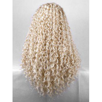 Synthetic Free Part Curly Long Party Lace Front Wig - CORNSILK 24INCH