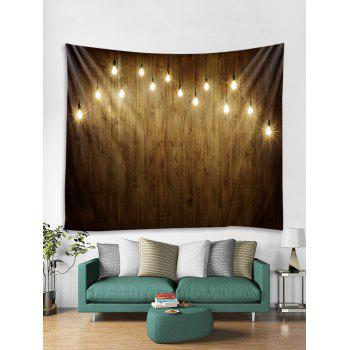 Light Wooden Wall Printed Tapestry Art Decor - multicolor W59 X L51 INCH