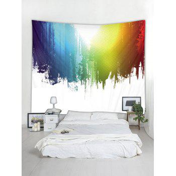 Paint Splatter Printed Wall Tapestry Art Decor - multicolor W59 X L51 INCH