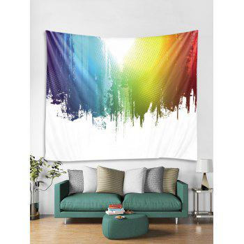 Paint Splatter Printed Wall Tapestry Art Decor - multicolor W79 X L71 INCH