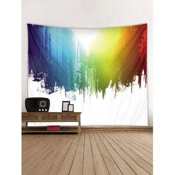 Paint Splatter Printed Wall Tapestry Art Decor - multicolor W91 X L71 INCH