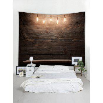 Wooden Wall Lamp Printed Wall Tapestry Art Decor - multicolor W79 X L59 INCH