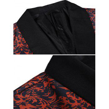 All-over Printed Pattern Flap Pocket Blazer - multicolor 3XL