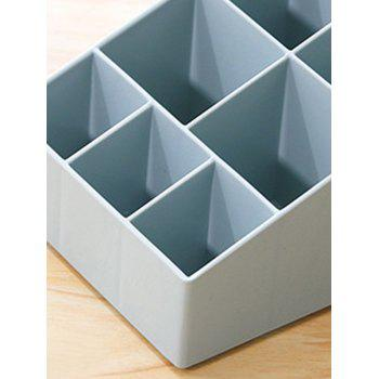 Multi-cell Plastic Storage Box - PASTEL BLUE