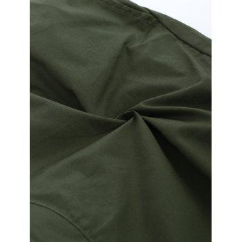 Stretchy Waist Solid Color Jogger Pants - ARMY GREEN M