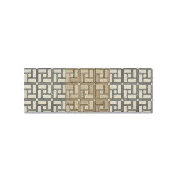 Maze Pattern Non-slip Decorative Flannel Bathroom Mat - CHAMPAGNE GOLD W16 X L47 INCH