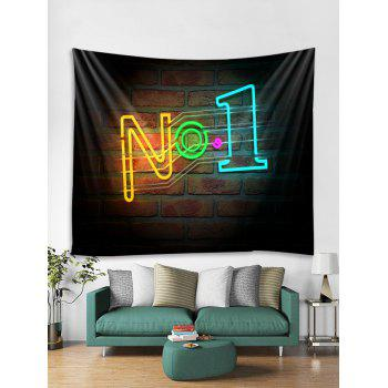 Brick Wall No1 Pattern Tapestry Art Decoration - multicolor W79 X L59 INCH