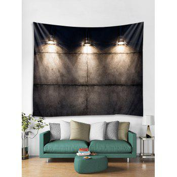Wall Lamp Pattern Tapestry Art Decoration - multicolor W59 X L51 INCH