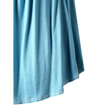 Plus Size Square Neck Curved Tank Top - BLUE HOSTA 4X