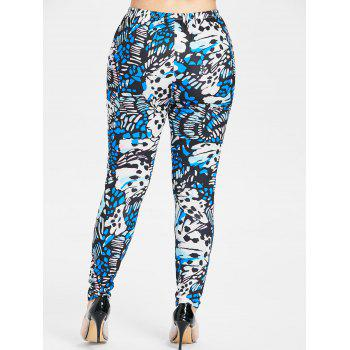Leggings à motif abstrait de grande taille - multicolor 4X