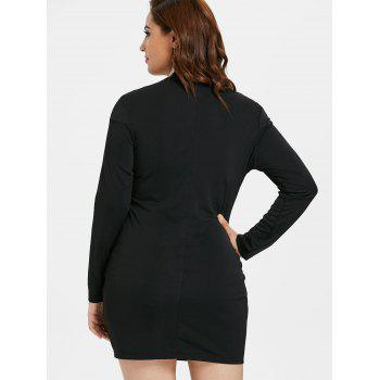 Plus Size Cut Out Tight Dress - BLACK L