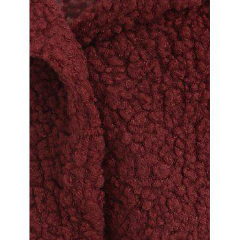 Buttons Fuzzy Coat - RED M