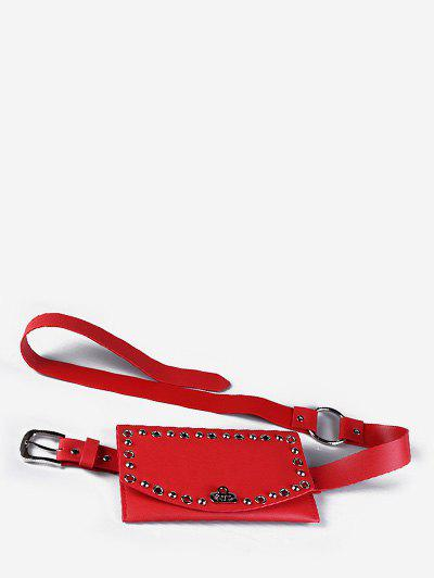 Round Hole Multi Function Waist Bag - LAVA RED