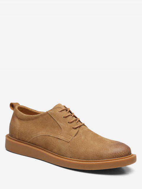 Low Top Lace Up leisure Sneakers - BROWN EU 40