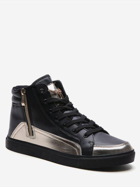 Leisure High Top Flat Sneakers - GOLD EU 44