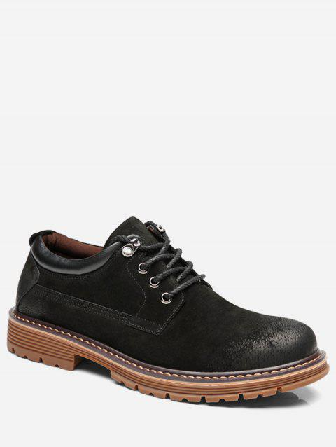 Lace Up Low Top Sneakers - BLACK EU 42
