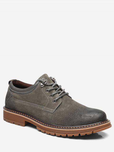 Lace Up Low Top Sneakers - GRAY EU 42
