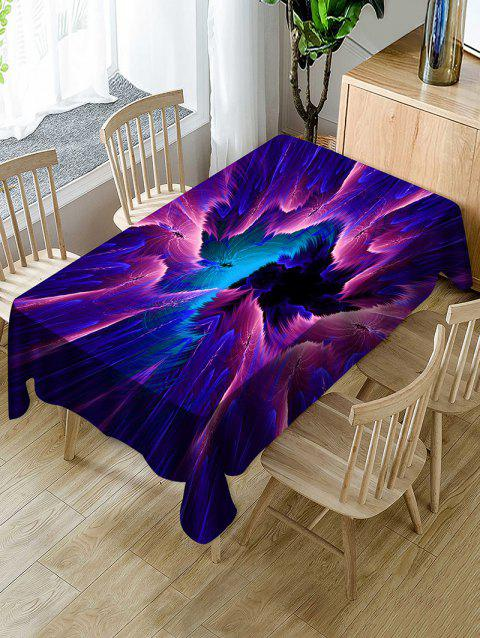 Abstract Galaxy Print Waterproof Tablecloth - multicolor W54 X L54 INCH