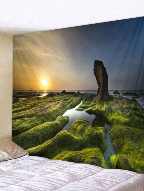 Sunset Scenic Print Tapestry Wall Art - multicolor W59 X L59 INCH