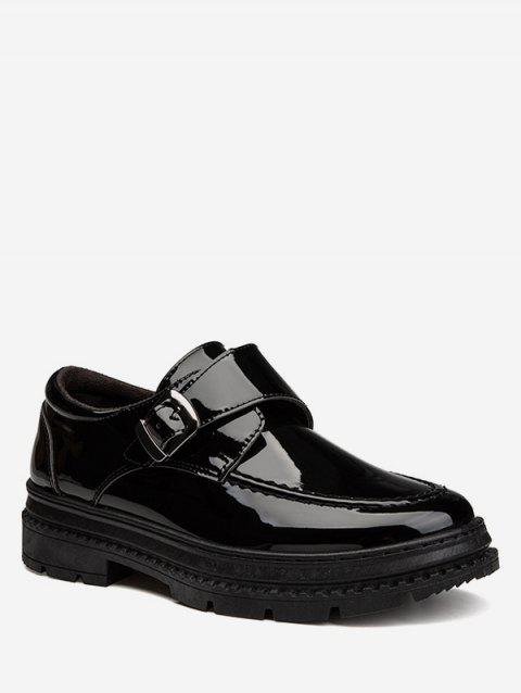 Moc Toe Patent Leather Sneakers - BLACK EU 39