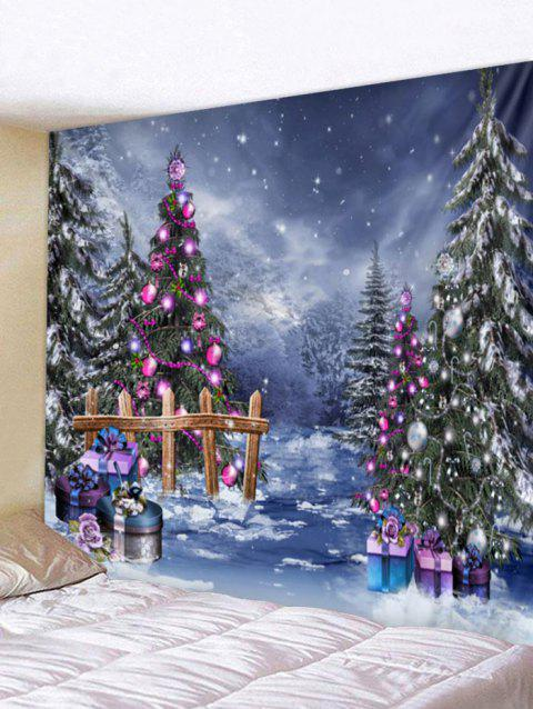 Christmas Tree Wall Tapestry Art Decoration - multicolor W79 X L79 INCH