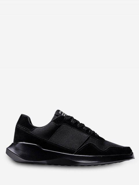 Lace Up Chunky Running Sneakers - BLACK EU 43